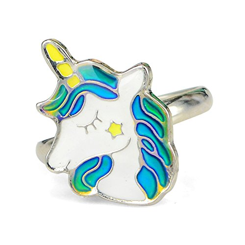 Fun Jewels Fairy Tale Cute Unicorn Color Change Mood Ring for Girls Size Adjustable