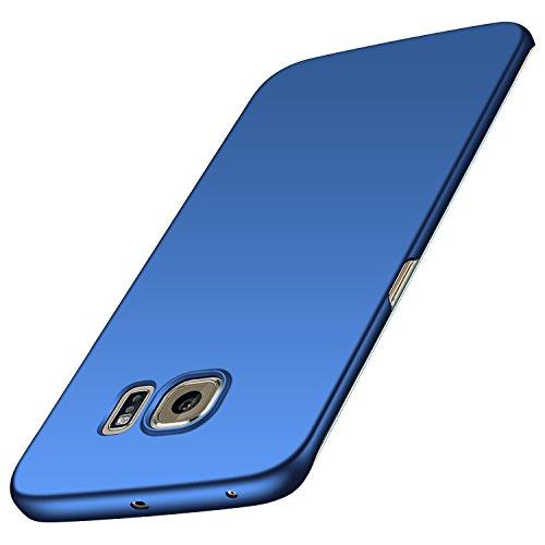 anccer Samsung Galaxy S6 Edge Hülle, [Serie Matte] Elastische Schockabsorption und Ultra Thin Design für Samsung Galaxy S6 Edge(Glattes Blau)