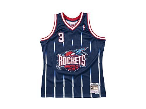 Mitchell & Ness - Maglia NBA Steve Francis Houston Rockets 1999-00 Hardwood Classic Swingman, colore: Blu marino