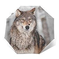 動物 狼 折りたたみ傘 自動傘 ワンタッチ式 おしゃれ 耐強風 超撥水 晴雨兼用 梅雨対策 メンズ レディース ビッグサイズ
