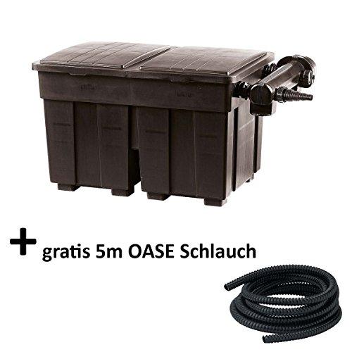 Teichfilter Set 18000 l inkl. UVC 36 Watt + gratis OASE Druckschlauch 5m