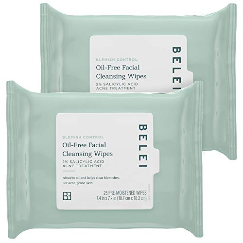 Belei Blemish Control Oil-Free Facial Cleansing Wipes