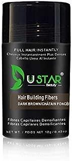 Ustar Hair building Fibers Hair Loss Concealer for Thinning Hair Dark Brown 0.42oz 12g