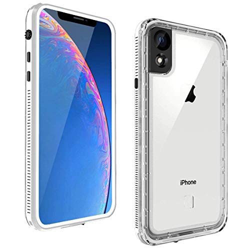 iPhone XR Slim Case, Ultra Lightweight Full-Body Clear Bumper Case, Waterproof Shockproof Xr Case with Screen Protector for Apple iPhone XR (White)