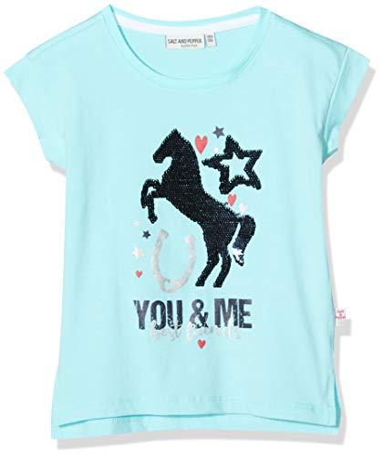 Salt & Pepper Mädchen 03112265 T-Shirt, Türkis (Curacao Blue 439), (Herstellergröße: 104/110)