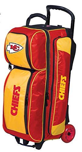 KR NFL Kansas City Chiefs Triple Roller Bowlingtasche, Rot/Gelb