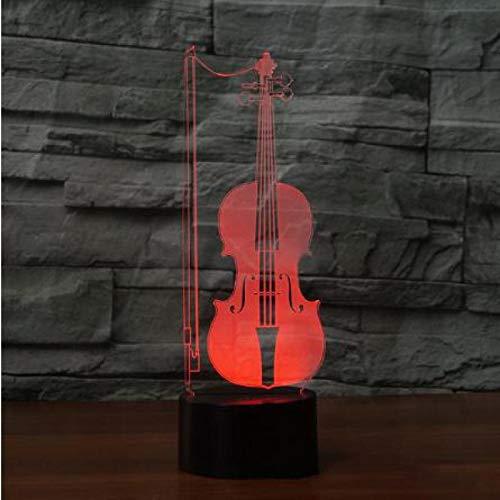 Música Rock Crazy Band Cool Flower Pattern Bass Guitar Singer Lámpara de mesa 3D Preciosos colores que cambian LED Luz de noche Navidad Niños Decoración de la habitación Regalo de San Valentín