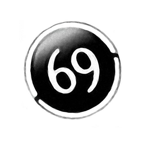 Piercingfaktor Dermal Anchor Piercing Skin Diver Anker Aufsatz Kugel Aufsatzkugel Ball Flach Stecker mit Comic Picture Motiv Logo Silber 69