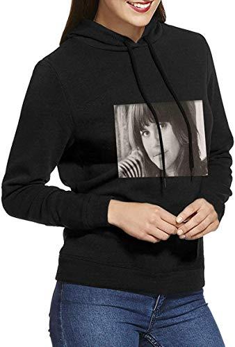 iBarabara Linda Ronstadt Hoodie Sweatshirt Woman Atmospheric Pattern,Black,Medium