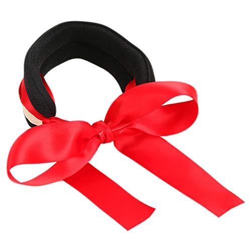 Dabixx Chignon de Cheveux Maker, des Boucles de Cheveux pour Femme Chignon Maker Ruban Bowknot Nœud Support DIY Outil Bandeau Headband-Sky Bleu Rouge
