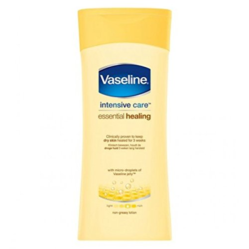 vaseline soins intensifs Essentiel HYDRATER journalier Lotion corporelle pour plus doux, soin lissant peau 400ml
