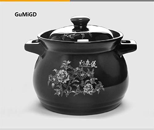 Keramik-Auflauf Suppentopf Eintopf aus hochtemperaturbeständigem Gesundheit Haushalt Feuertopf Casserole (Capacity : 2.8L, Color : A)