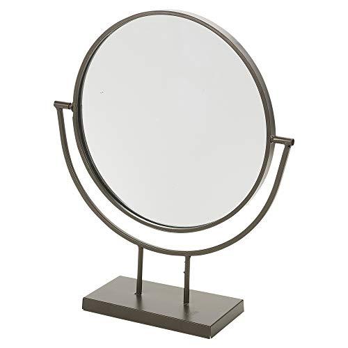 URBNLIVING 24 cm runder Designer-Standspiegel mit Drehgelenk, modernes Schlafzimmer, Heimdekoration