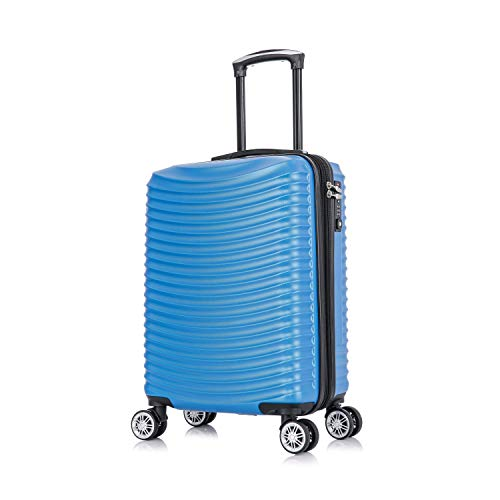 AMZTrunk Luggage Expandable Suitcase ABS 20in Set with TSA Lock Spinner Carry Ons (Sky Blue, 20-inch)
