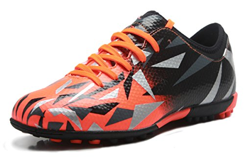 T&B Turf Soccer Shoes Cleats Kids Football Boot Boys Gilrs Orange 76516-Ju-31
