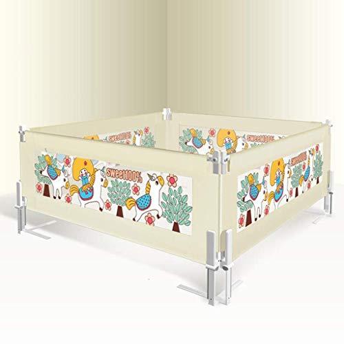 kaige Cerca de la Cama barandilla de la Cama Infantil del bebé del Carril del Carril inastillable Cama Deflector de Viento Vertical (un Lado) Valla Niño c 200X92cm WKY (Color : E, Size : 180X92cm)