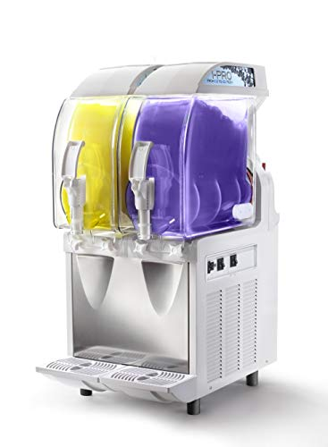 SPM dispensador de granito y sorbetes I-PRO IP2MHC - Mecánica de alta capacidad refrigerante - 2 cubetas de 11 l. blanco o negro a elegir