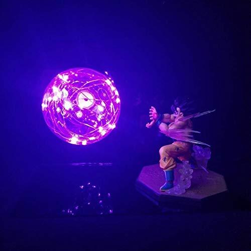 Dragon Ball Z Lamp Goku Strength Bombs Lámpara De Mesa Creativa, Iluminación Decorativa Niños DBZ Luz De Noche LED para Dormitorio, Escritorio De Sala De Estudio, Gran Regalo Creativo,Púrpura