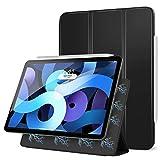 MoKo Magnetic Case Fit New iPad Air 4th Generation 2020 (iPad 10.9 Case)/iPad Pro 11' 2018 - Slim Lightweight Smart Folding Stand Folio Cover for iPad Air 4 Case 10.9 inch, Auto Wake/Sleep,Black