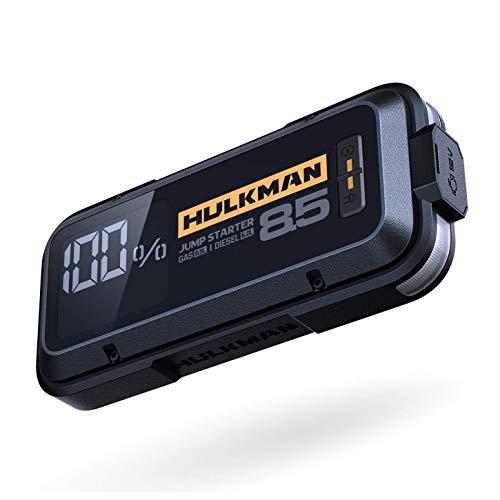 HULKMAN Alpha85 Jump Starter 2000 Amp 20000mAh Car Starter Lithium Portable Car Battery Booster Pack for up to 8.5 Liter Gasoline and 6 Liter Diesel Engines