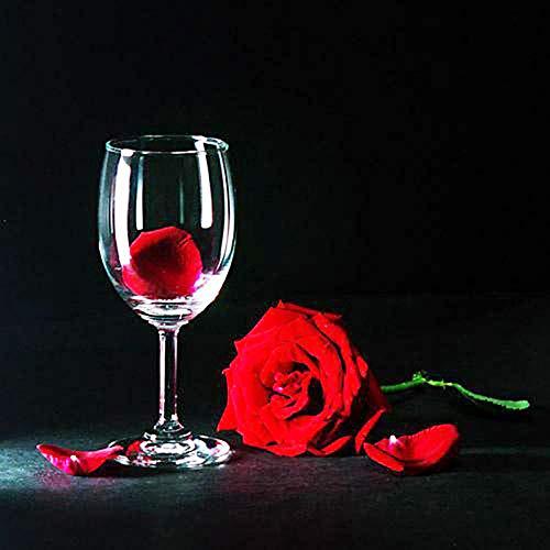 5D Diamant Olie Schilderen door Digitale Schilderij Kit Volledige Diamant DIY Art Ambachten Geschikt voor Home Wanddecoratie Wijnglas Rose 50x50cm