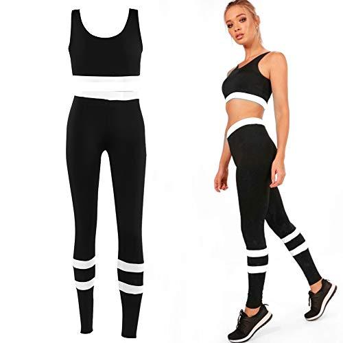 Frauen Damen Yoga Gym Hose Leggings Sport BH BH Sets Für Fitness-Training (Weiß XL)