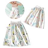 panthem Pack de 2 faldas de pañales para bebé, lavables, 2 en 1, impermeables, absorbentes,...