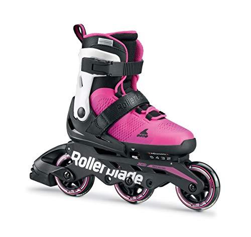 Rollerblade Microblade G 3WD, Pattini Bambina, Bianco/Rosa, 33-36,5
