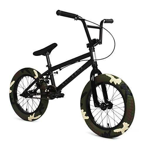 "Elite BMX Bicycle 20"" & 16' Freestyle Bike - Stealth and Peewee Model (Black Combat, 16')"