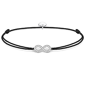Thomas Sabo Damen Armband Schwarz Little Secret Unendlichkeitszeichen Infinity 925 Sterling Silber LS003-401-11-L20v