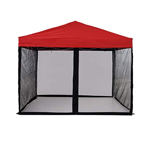 PCAFRS Mosquito Net with Zipper for Outdoor, Camping Mosquito Net, DIY Canopy Screen Wall, Outdoor Mosquito Net for 10x 10' Patio Gazebo and Tent (Only Mosquito Net, Outdoor Tent Not Including)