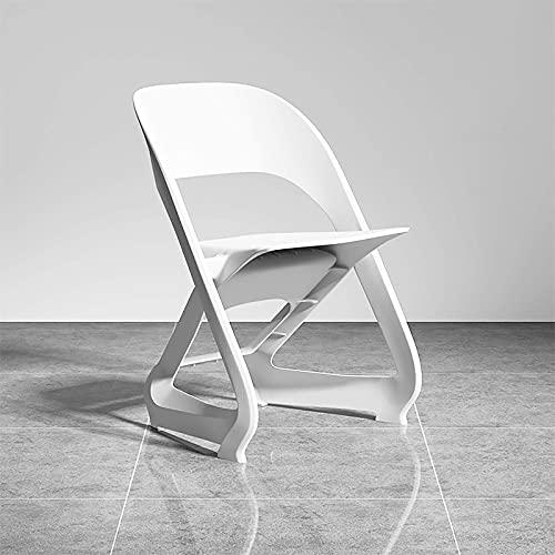 Especial /Simple L-elegante Silla de computadora ergonómica Sin silla de escritorio sin brazos, silla de comedor de plástico PP, Mid-espalda Moderna Silla de conferencia Silla ejecutiva para estudio D