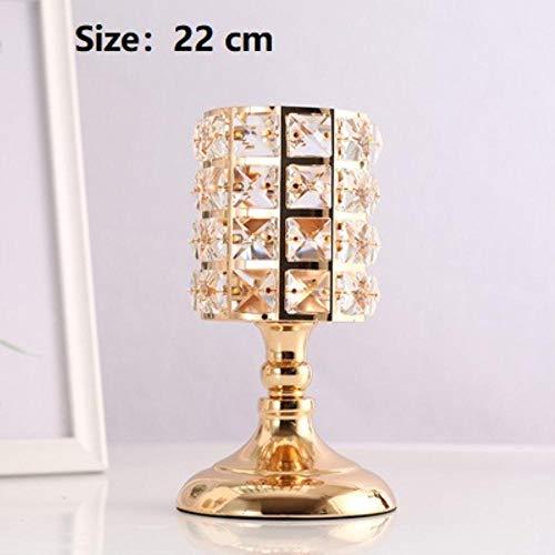 Qingsb 3 stks Prachtige Nordic Kandelaar Ornamenten Goud Kristallen Kandelaar Tafel Kandelaars voor Thuis Kerst Bruiloft Decor geschenken, S-1 stks