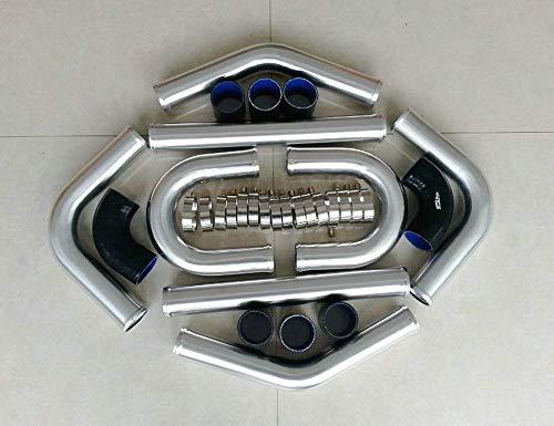 Azul 8 PCS OD 2' 51mm Universal Aluminio Intercooler Turbo Tubería Manguera Tubo de Tubería T-Clamp Manguera