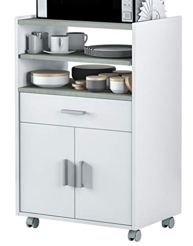 Miroytengo Mueble microondas Plutón bufe Cocina aparador Estilo Moderno 59x40x92 cm