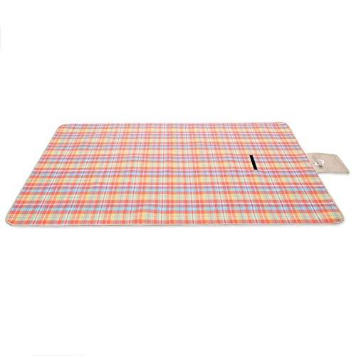 GCX - Esterilla portátil para camping, picnic, playa, plegable, impermeable, 300 x 300 cm, color sólido (color: B, tamaño: 300 x 300 cm)