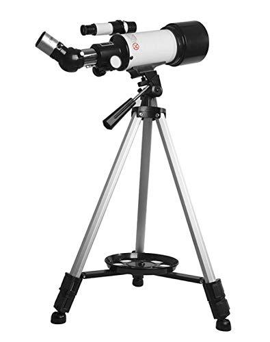 ZTBXQ Suministros para Equipos de Campamento Telescopios para Adultos profesión portátil Niño Adulto Refracción del Sistema óptico Calibre 70 mm Longitud Focal 400 mm Puede conectar teléfonos móviles