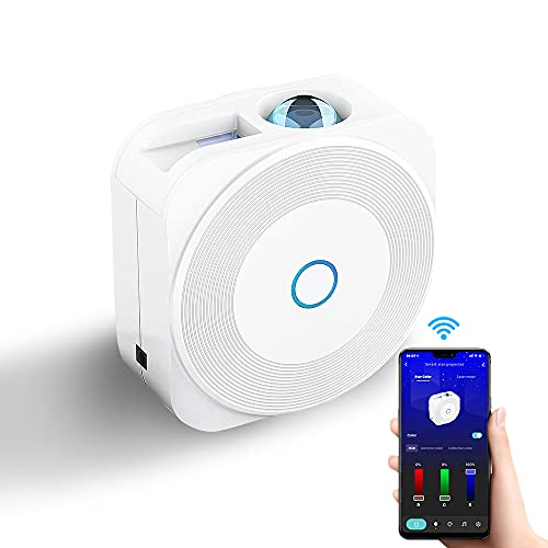 Smart Galaxy Star Projector Control by Phone APP, Compatible with Alexa Google Assistant, LED Sky...