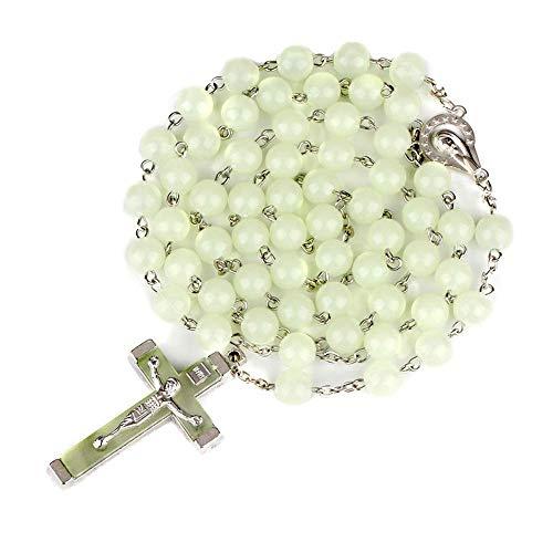 Diamond Found Collar Rosario Luminoso Noctilucent catolicismo joyeria Religiosa de Regalo de la Fiesta de la oración.