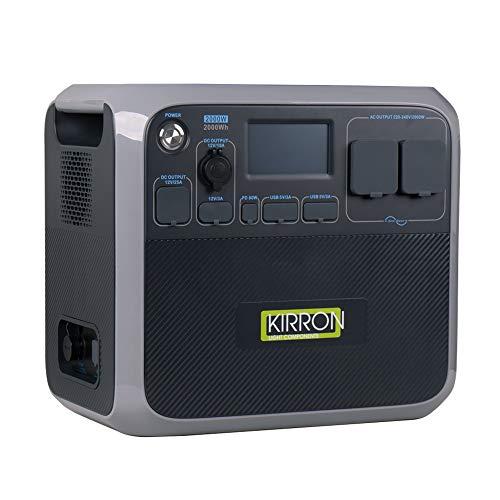 Kirron Powerstation AC200P I Tragbarer Akku Generator 2000 W/2000 Wh I 230 V Powerbank Steckdose I Notstromaggregat mit AC DC-Port PD Type-C und USB Anschlüssen I Stromspeicher Camping & mehr