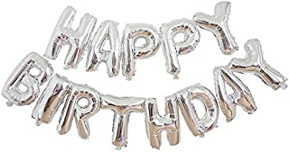 Harvest Wings Silver Happy Birthday Balloons Banner Inflatable Party Decor Birthday Decorations for Kids and Adults
