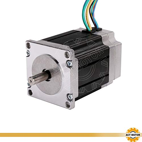 ACT MOTOR GmbH Nema23 1PC BLDC motore 57BLF02 80 mm 24 VDC 3000 RPM 7.8 A 125 W Ø8 mm D-Shaft CNC OEM