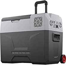 Alpicool CX40 Portable Refrigerator 42 Quart(40 Liter) with Trolley Vehicle, Car, Truck, RV, Boat, Mini Fridge Freezer for Driving, Travel, Fishing, Outdoor and Home use -12/24V DC and 110-240 AC