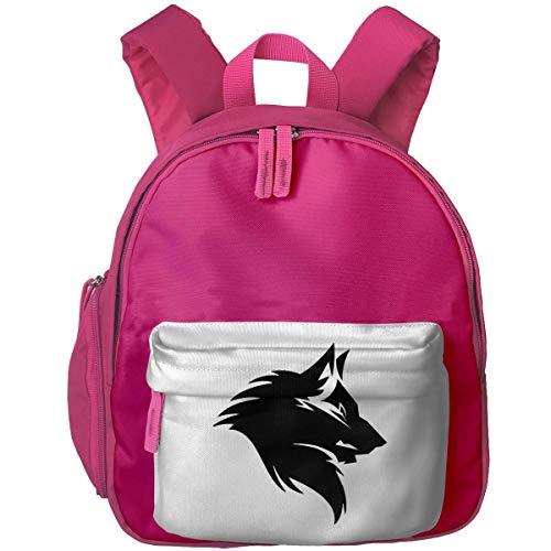 XCNGG Mini Kids Toddler Bookbag Black Wolf Head Printed Bookbag for Girls