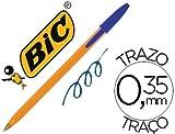 Boligrafo BIC naranja color Azul (20 Unidades)