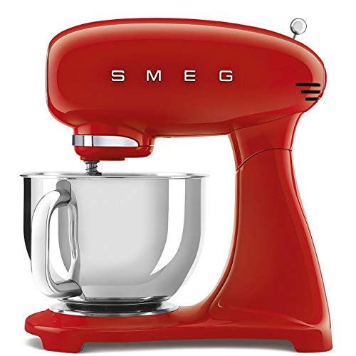 Smeg SMF03RDUK - Mezclador de mesa estilo retro, color rojo