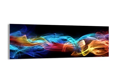 Cuadro sobre vidrio - Impresiones sobre Vidrio - Abstracto aire colorido figura - 140x50cm - Decoracion de Pared - Impresión en Vidrio - Cuadro en vidrio - Cuadro de Cristal - GAB140x50-2171