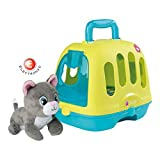 Smoby - Mallette Vétérinaire 2 en 1 - Cage de Transport - Jouet pour Enfant - Peluche Chaton avec Effets Sonores - 4 Sons - 340300