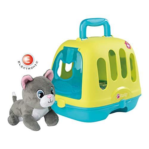 Smoby 7600340300 Tierarzt-Spielset im Koffer, 2-in-1 Spielkoffer mit Arzt Zubehör und Katzen-Transportbox, inklusive miauender Stoffkatze, für Mädchen und Jungen ab 3 Jahren