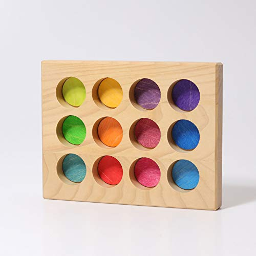 Grimm's Spiel und Holz Design Sortier-Brettchen Regenbogen
